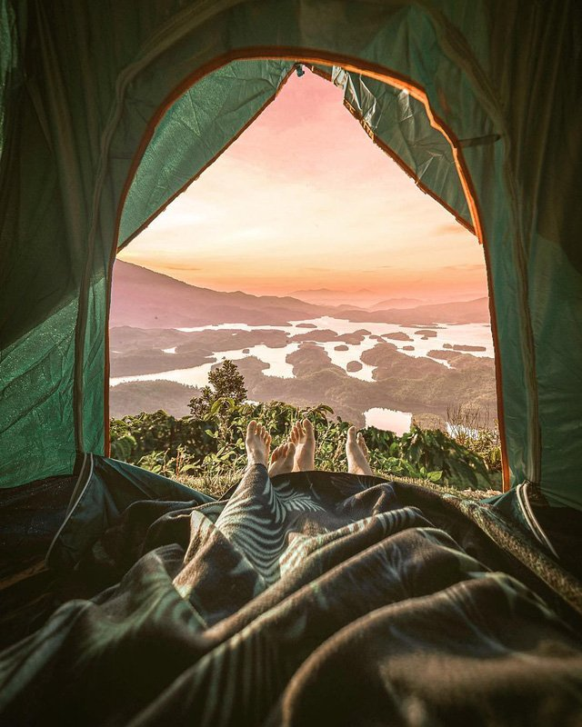 Cắm trại qua đêm tại Hồ Tà Đùng