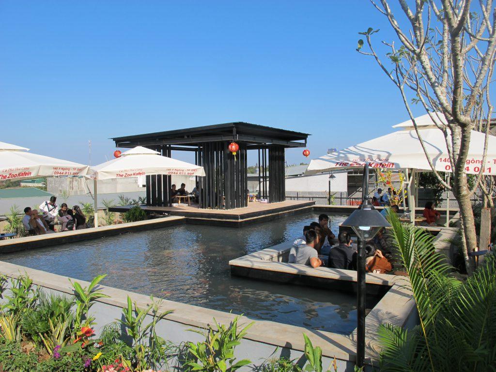 Một góc The Zoo Kafein (tại địa chỉ 140, đường Y Ngông, thành phố Buôn ma Thuột, Đắk Lắk)